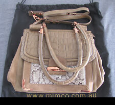"MIMCO Casablanca Mink Tote Bag Leather Handbag + Dust Bag ""Near New"""