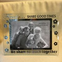 """Family Share Good Times Photo Frame Holds 4""""  x 6"""" Mirror Finish NEW"""