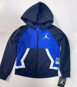 AIR JORDAN Boy`s Fleece Jacket Full zip Hooded Jacket
