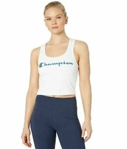 NEW Champion LIFE Women's Everyday Sleeveless Crop Top White Size Large