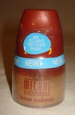 Milani Minerals Loose Makeup Powder Twist Down Brush Talc Free Natural Tan 06