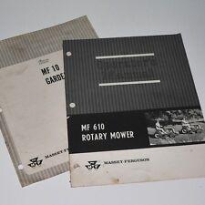 MASSEY FERGUSON MF 10 Tractor - Assembly booklet & Rotary Mower Operators Manual