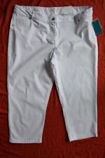 W-Lane WHITE Soft Denim Jeans 7/8 PANTS Size 20 NEW rrp$69.99. Slim Leg Design