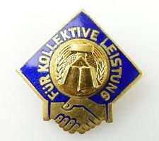 #e2080 FDJ pour collective performance doré rda Emaillé insigne