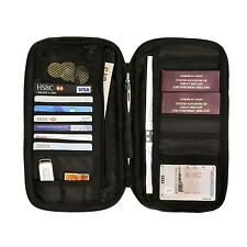 Travel Wallet Passport Holder Document Organiser RFID Secure with Free Luggag...