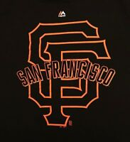 San Francisco Giants T-shirt XL Black Majestic MLB Baseball Sports 100% Cotton