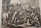 GRAVURE SUR CUIVRE ABIGAIL DAVID COLERE-BIBLE 1670 LEMAISTRE DE SACY (B88)