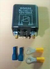 Split Charging Relay Heavy Duty 100 Amp 12 Volt Camper Van Motor Home T3 T4 Etc