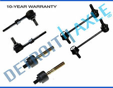 New 6pc Front & Rear Sway Bar Links + Inner Tie Rod Ends for Honda Prelude