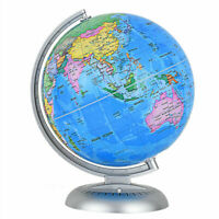 "8"" Illuminated World Globe  Up-to-date W/ Stand Built-in LED Night View Kids"