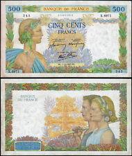 FRANCIA - France 500 francs 1942  VF no pinhole