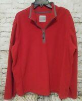Old Navy Classic Men's Size XXL Red 1/4 Zip Pullover Fleece 2XL