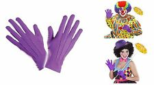 Short violet court spandex & velours gants pour costumes accessoire