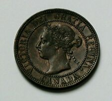 1901 CANADA Victoria Coin - Large Cent (1¢) - lustrous-brown