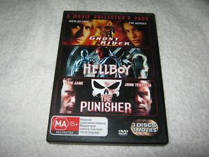 Ghost Rider + Hellboy + The Punisher - VGC - DVD - R4