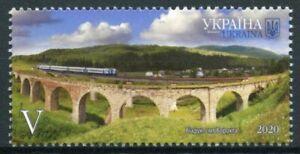 Ukraine 2020 MNH Landscapes Stamps Ivano-Frankivsk Trains Viaducts Rail 1v Set