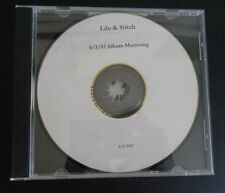 WALT DISNEY Animation LILO & STITCH Album Mastering CD Promo Preview 2002