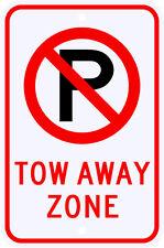 3M Reflective No Parking Tow Away Zone Symbol Sign Dot Municipal Grade 12 x 18