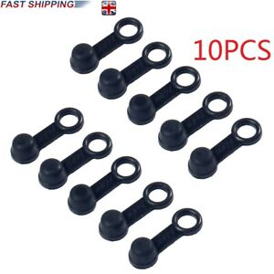 10X Brake Bleed Nipple Screw Dust Caps Cover Rubber Motorcycle Motorbike