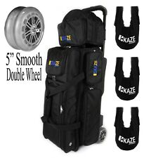 KAZE 3 Ball Bowling Roller Tote Bag Double Smooth PU Wheels ADD-ON 3x See Saw