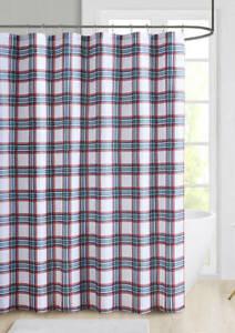 Red Tartan Plaid Shower Curtain Country Cottage 72 x 72 Cloth Farmhouse New
