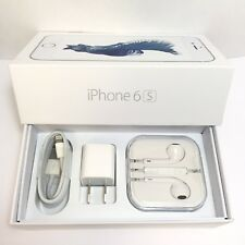 IPHONE 6s RETAIL BOX AND NEW ACCESSORIES plug charger headphones manual sim