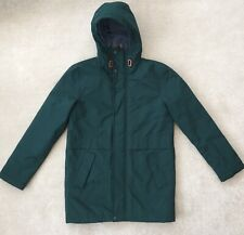 New Next boys coat 14 years green padded shower proof hood D2