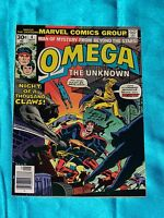 OMEGA THE UNKNOWN # 4, Sept. 1976, Steve Gerber / Jim Mooney, FINE  / VERY FINE