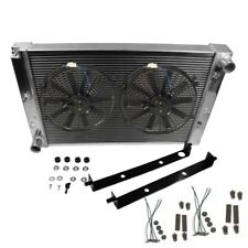 "3-ROW ALUMINUM RADIATOR+2X 12""FAN KIT BLACK FOR 97-04 FORD MUSTANG GT/SVT V8 MT"