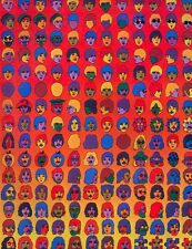 THE BEATLES POSTER PAGE . PSYCHEDELIC CARTOON HEADSHOT MONTAGE ILLUSTRATION . Y1