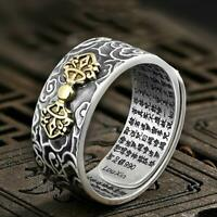 Men Pixiu Charms Ring Feng Shui Amulet Wealth Lucky Open Ring Jewelry HOT
