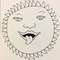 Vintage Original DICK SEEGER Gothic Sun Face Pop Art Card
