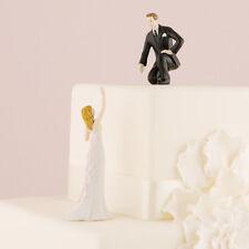 "Reaching Bride and Helpful Groom ""Lending a Hand"" Personalized Weddingstar"