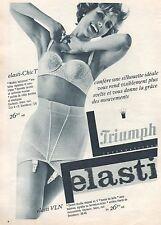▬► PUBLICITE ADVERTISING AD TRIUMPH Soutien-gorge lingerie 1961