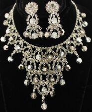 Amazing Hattie Carnegie Vintage Demi-Parure Crystal Necklace Earrings