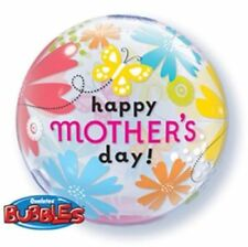 PARTY SUPPLIES MOTHERS DAY BUTTERFLY FLORAL 56CM QUALATEX BUBBLE BALLOON PREMIIU
