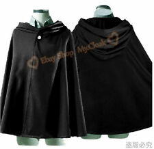 Anime Christmas Cloak Clothes Cosplay Wedding Cape Medieval Halloween Black #01
