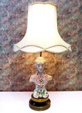 Cordey Figure MALE Lamp.Original Cordey Sticker.Double Brass Base.Pristine.1940