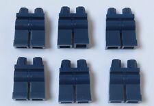 LEGO 6 gamba gambe parti inferiori per minifigura Figura Dark Earth Blu