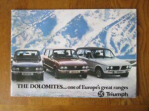 Original Motoring sales brochure, Triumph Dolomites,  1977.