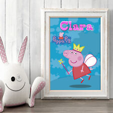 Peppa Pig Personalised Poster A5 Print Wall Art Custom Name ✔ Fast Delivery ✔