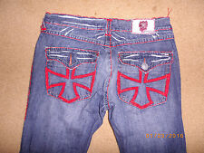 M LAGUNA BEACH MALTESE CROSS BACK FLAP JEANS 36 X 33