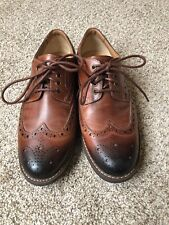 Mens Clarks Wing Tip Leather Shoes Size 10