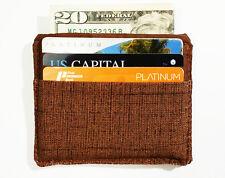 Minimalist #4 Men's Vegan Wallet Front Pocket Brown Fabric Wallet