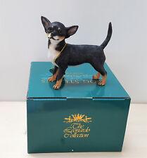 Chihuahua Black Tan Dog Studies Figure Ornament Figurine by Leonardo
