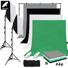 Profi Fotostudio Set Hintergrund System LED  Studioleuchte Softbox Lampenstativ