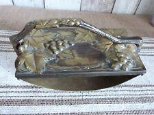 ancien tampon porte buvard bronze décors vigne