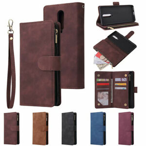 Zip Coin Purse card slot Flip Wallet Phone Case For Huawei Mate 10 20 30 Pro