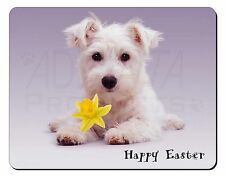 'Happy Easter' Westie Computer Mouse Mat Christmas Gift Idea, AD-W7DA1M
