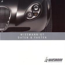 Wiesmann GT mf4 Coupe Données liste de prix équipements prospectus brochure 2007 19